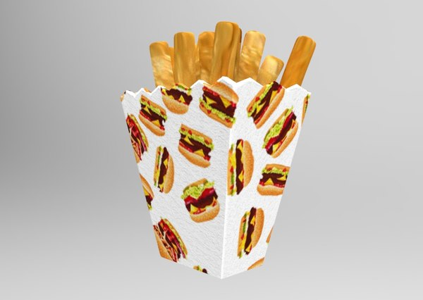3D french fries model