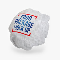 3D model burger packing
