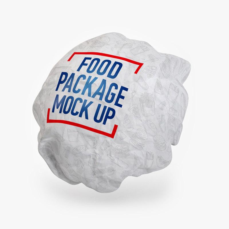 3D model burger packing