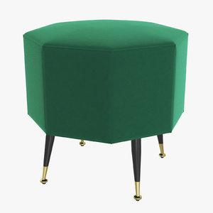 3D stool colmar pouf
