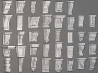 Corbels Collection -1 - 38 pieces