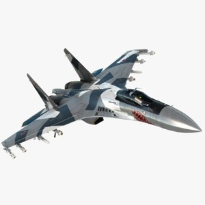 sukhoi su-35 modeled 3D model