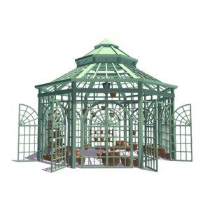 green house pots 3D model