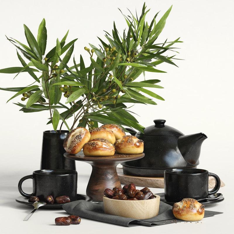 3D kitchen set model