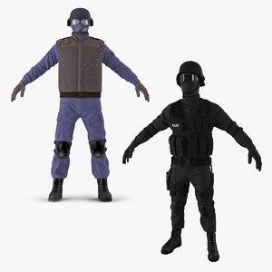 swat uniforms 3D model