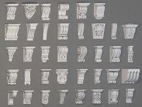 38 piece corbels 3D model