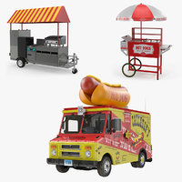 hot dog vending machines 3D model