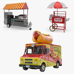 hot dog vending machines 3D model