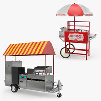 hot dog carts 3D model