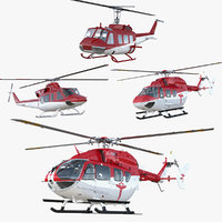 3D air ambulance helicopters 3