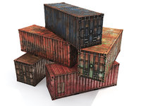 3D model containers polys