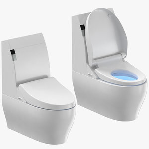 3D toilets design modern closed model
