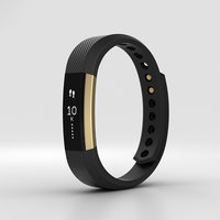 fitbit alta black 3D model