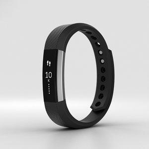 fitbit alta black 3D model