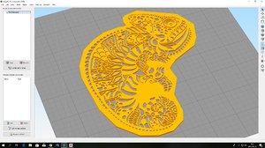 3D printable chamaeleon stencil