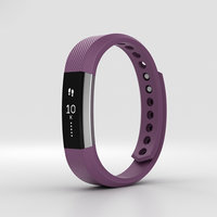 3D model fitbit alta plum