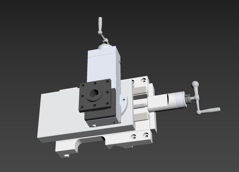 xy fine tuning handle 3D model