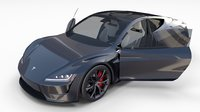tesla roadster interior 3D