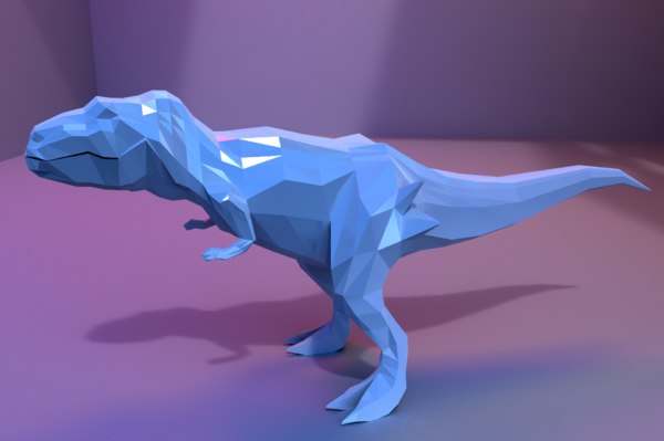 low-poly animations model