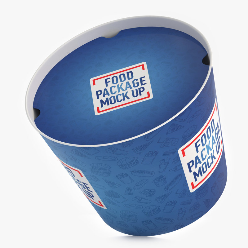 fast food bucket 3D model