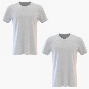 3D mens t-shirt model