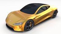 3D tesla roadster