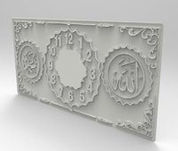 3D relief interior clock