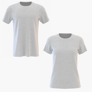 men women neck t-shirt 3D