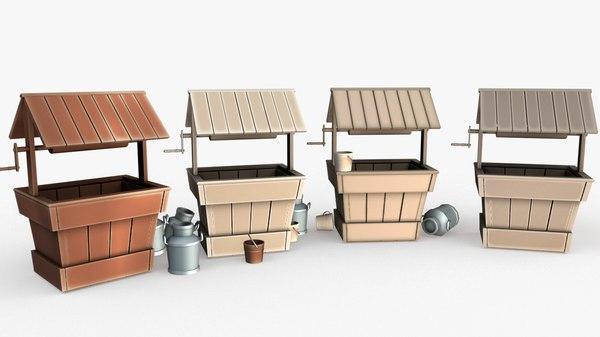 pack cartoon 3D model