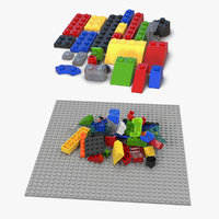 Lego Bricks 3D Models Collection