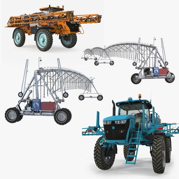 farm irrigation 3D model