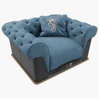 3D visionnaire chester laurence armchair model