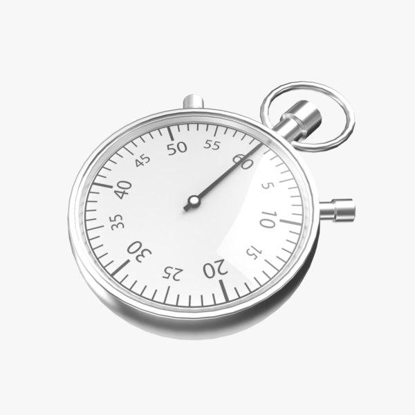 stopwatch stop 3D model