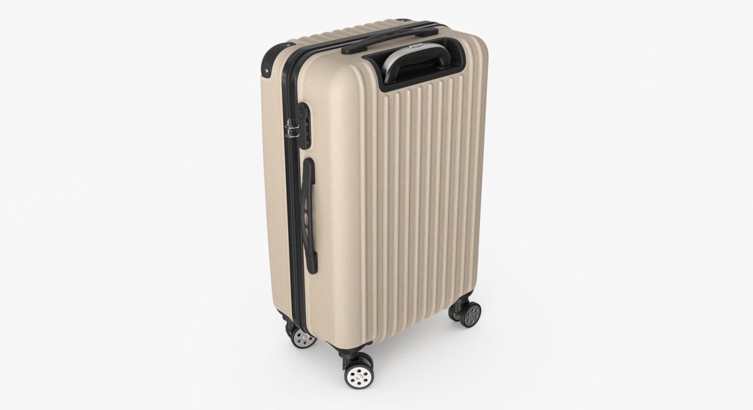 3D trolley suitcase
