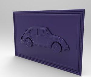 old volkswagen beetle modeled 3D