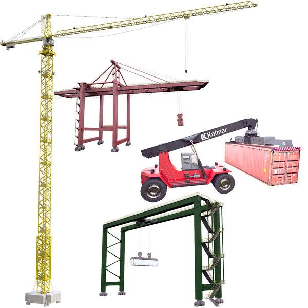 3D cranes stacker model