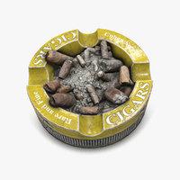 cigar ashtray 3D model
