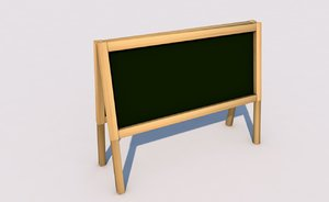 school blackboard 3D model