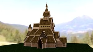 3D model viking church