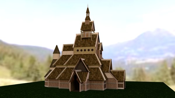 3D model viking church