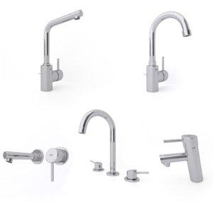 faucets bathroom 3D model