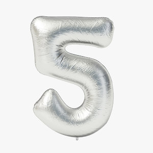 3D foil balloon digit -