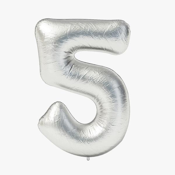 3D foil balloon digit -