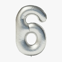 foil balloon digit - 3D model