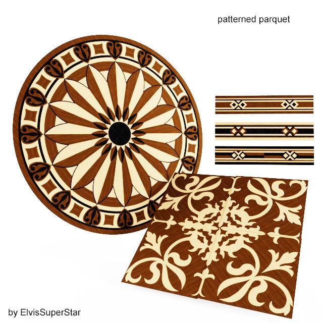 3D patterned parguet floor