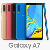3D samsung galaxy a7 color