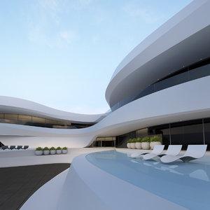 3D building concept model
