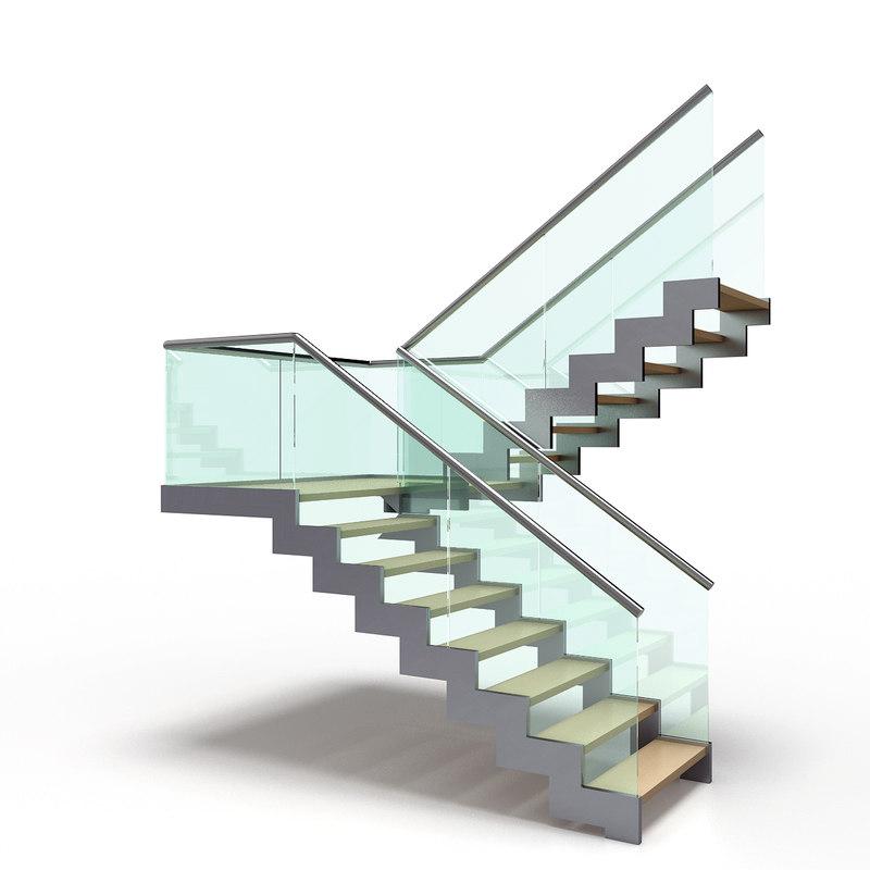 modern stair 3D model