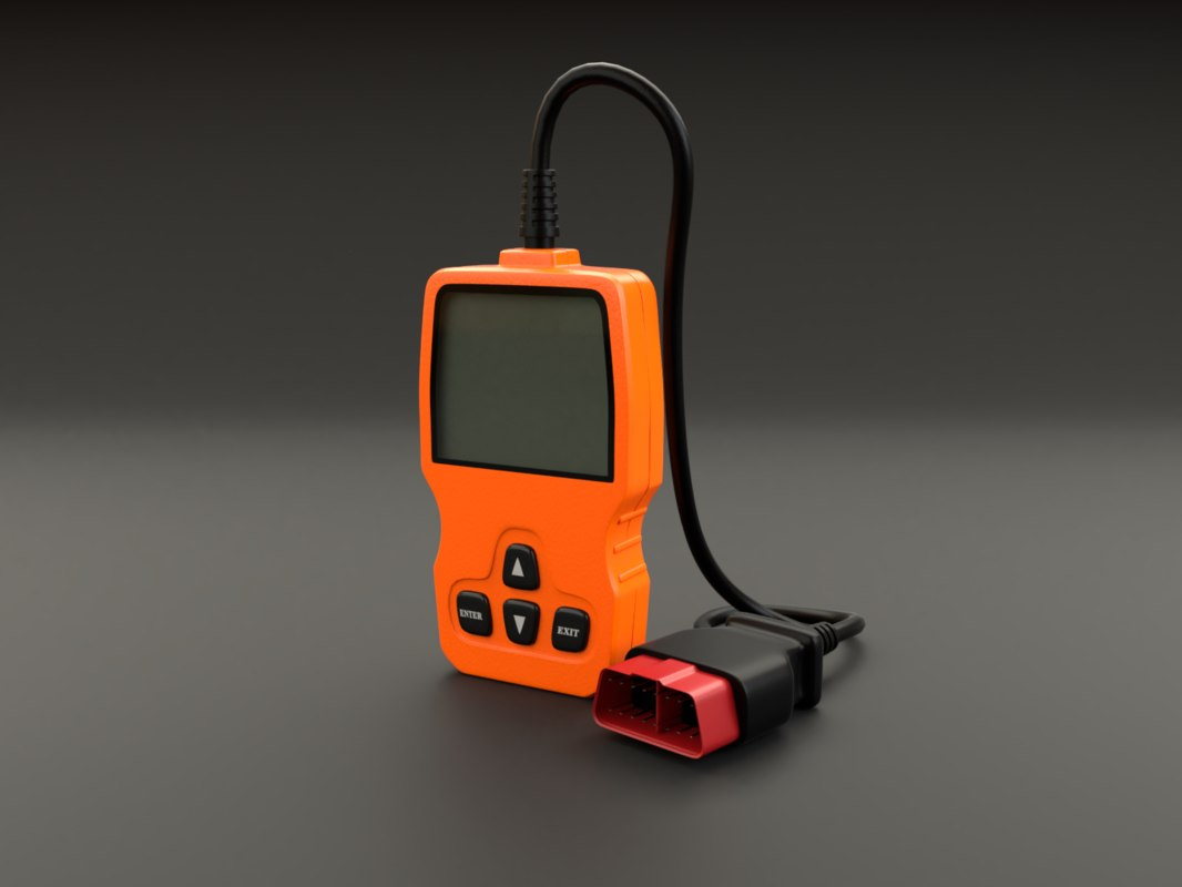 3D obd ii scanner model
