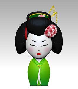 japanese doll 3D